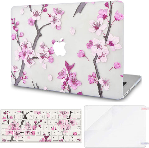 Macbook Case with Keyboard Cover and Screen Protector Package | Floral Collection -Flower 10