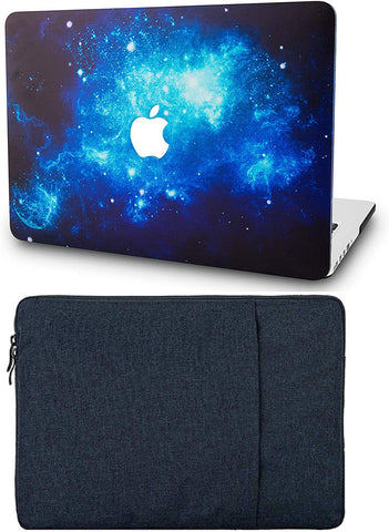 Macbook Case with Sleeve Package | Galaxy Space Collection - Blue 2 - Case Kool