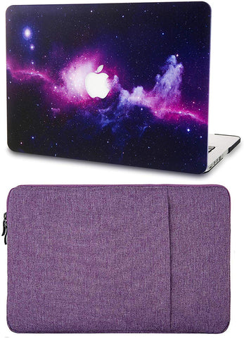 Macbook Case with Sleeve Package | Galaxy Space Collection - Purple - Case Kool