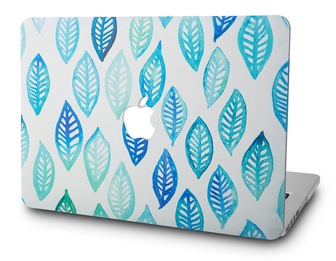 Macbook Case | Oil Painting Collection - Leaf - Green Blue - Case Kool