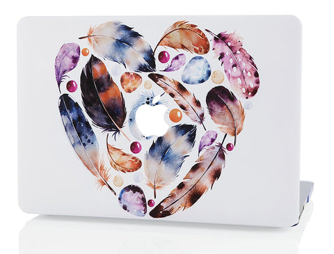 Macbook Case | Oil Painting Collection - Feather Heart - Case Kool