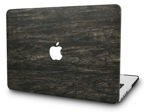 Macbook Case | Leather Collection - Brown Wood Leather - Case Kool