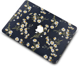 Macbook Case with Keyboard Cover, Screen Protector and Sleeve Sleeve Bag |White Daisies
