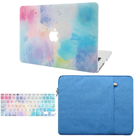 Macbook Case with Keyboard Cover and Sleeve Package | Painting Collection - Rainbow Mist 2 - Case Kool