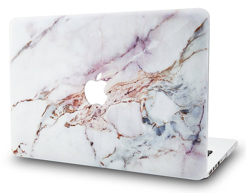 Macbook Case | Marble Collection - White Marble 4 - Case Kool