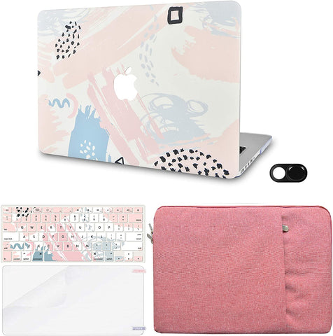 Macbook Case with Keyboard Cover, Screen Protector and Sleeve Sleeve Bag and Webcam Cover|Watercolor Paint 2