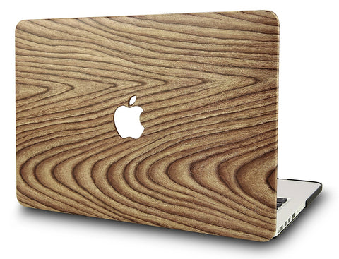 Macbook Case | Leather Collection - Pine Wood 1 - Case Kool