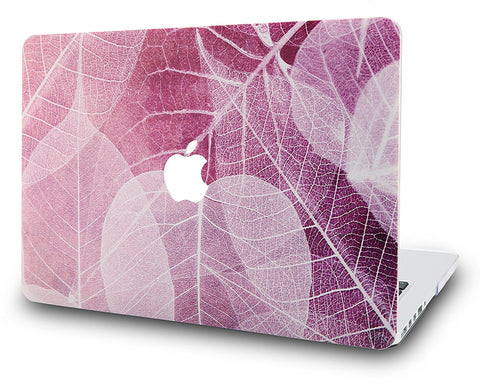 Macbook Case | Oil Painting Collection - Leaf - Pink - Case Kool