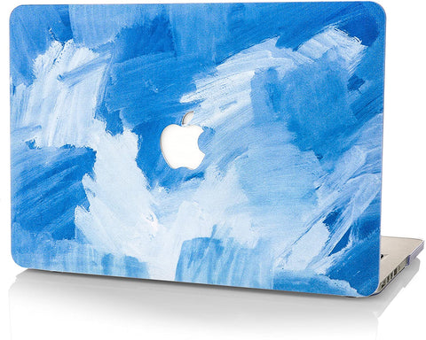 Macbook Case | Oil Painting Collection -  Blue Water Paint