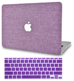 Macbook Case with Keyboard Cover Package | Color Collection - Purple Fabric - Case Kool