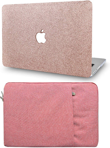 Macbook Case with Sleeve Package | Color Collection - Rose Gold Sparkling - Case Kool