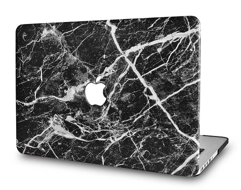 Macbook Case | Leather Collection - Black Marble 3 - Case Kool
