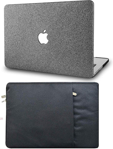 Macbook Case with Sleeve Package | Color Collection - Grey Sparkling - Case Kool