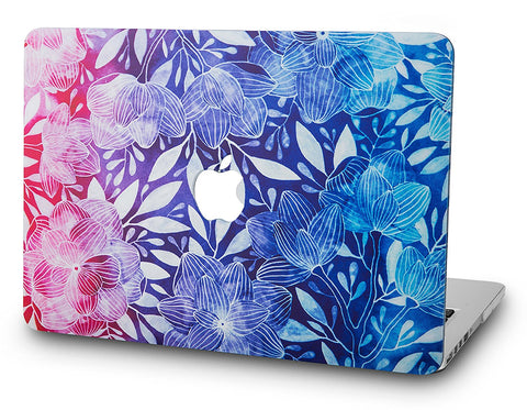 Macbook Case | Oil Painting Collection - Leaf - Colorful - Case Kool