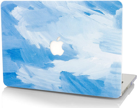 Macbook Case | Color Collection -  Blue - Water Paint