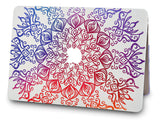 Macbook Case with Keyboard Cover Package | Color Collection - Colorful Lace - Case Kool