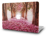 Macbook Case with US/CA Keyboard Cover' Package | Floral Collection - Cherry Blossom - Case Kool