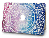Macbook Case with US/CA Keyboard Cover' Package | Color Collection - Purple Medallion - Case Kool
