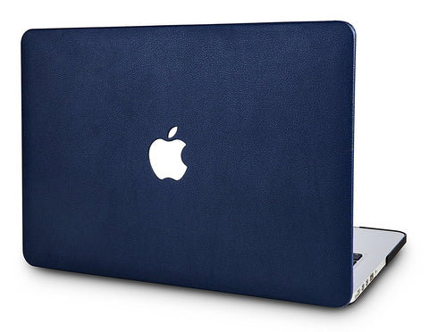 Macbook Case | Leather Collection - Navy - Case Kool