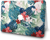 Macbook Case with Sleeve Package | Floral Collection - Palm Leaves Red Flower - Case Kool
