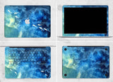 Macbook Decal Skin | Paint Collection - Blue Fish