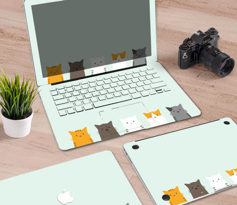 Macbook Decal Skin | Paint Collection - Cartoon Cat4 - Case Kool