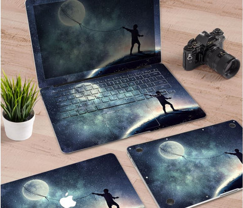 Macbook Decal Skin | Paint Collection - Moon Balloon