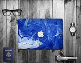 Macbook Decal Skin | Paint Collection - Blue Paint - Case Kool