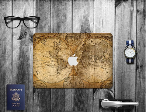 Macbook Decal Skin | Paint Collection - World Map - Case Kool