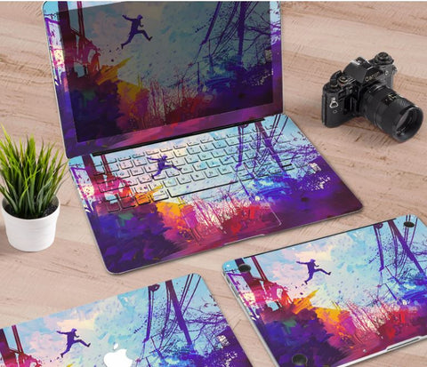 Macbook Decal Skin | Paint Collection - Jump