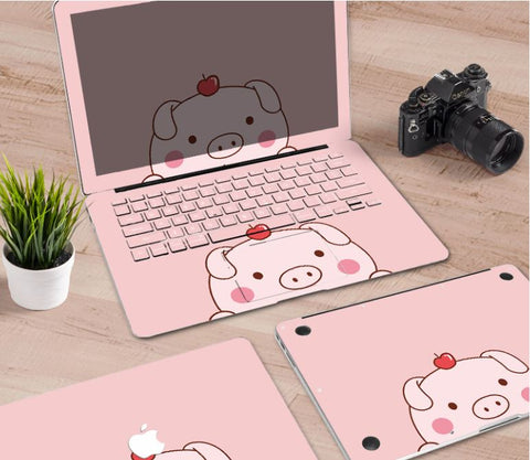Macbook Decal Skin | Paint Collection - Cartoon Pig - Case Kool
