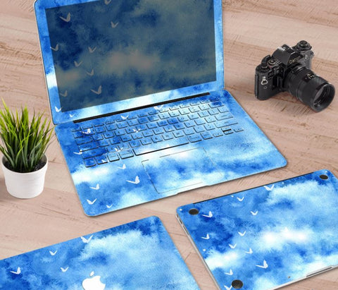 Macbook Decal Skin | Paint Collection - Blue Sky