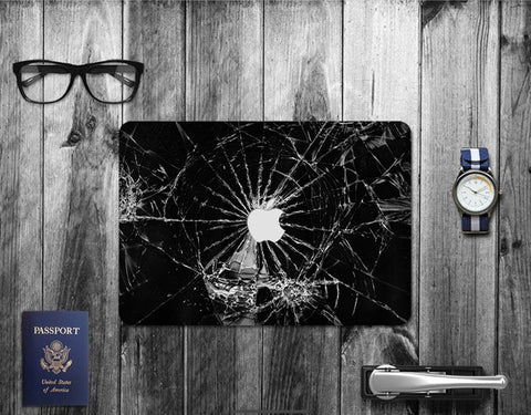 Macbook Decal Skin | Paint Collection - Cracked Glass - Case Kool