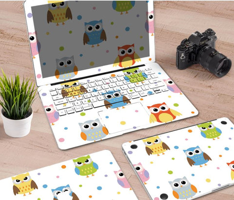 Macbook Decal Skin | Paint Collection - Cartoon Owl