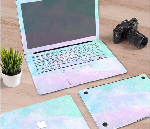 Macbook Decal Skin | Paint Collection - Rainbow Mist2 - Case Kool
