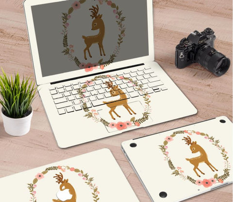 Macbook Decal Skin | Paint Collection - Cartoon Deer