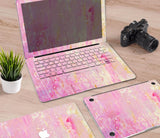 Macbook Decal Skin | Paint Collection - Pink Paint - Case Kool
