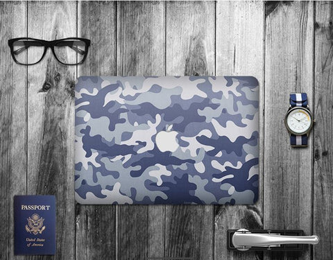 Macbook Decal Skin | Paint Collection - Grey Camouflage