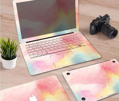 Macbook Decal Skin | Paint Collection - Rainbow Mist - Case Kool