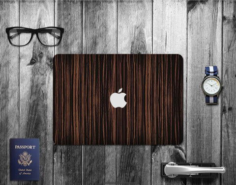 Macbook Decal Skin | Paint Collection - Dark Wood Grain