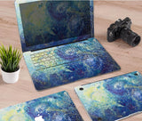 Macbook Decal Skin | Paint Collection - Blue Paint3 - Case Kool