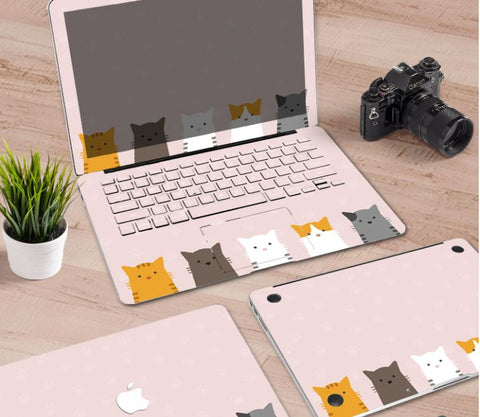 Macbook Decal Skin | Paint Collection - Cartoon Cat - Case Kool