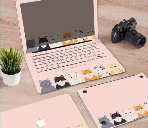 Macbook Decal Skin | Paint Collection - Cartoon Cat2 - Case Kool