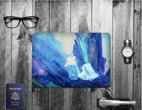 Macbook Decal Skin | Paint Collection - Blue Paint2