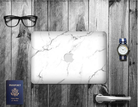 Macbook Decal Skin | Paint Collection - White Marble