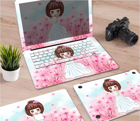 Macbook Decal Skin | Paint Collection - Wedding Girl - Case Kool
