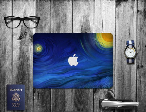 Macbook Decal Skin | Paint Collection - Blue Flow