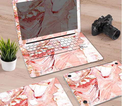 Macbook Decal Skin | Paint Collection - Pink Marble2 - Case Kool