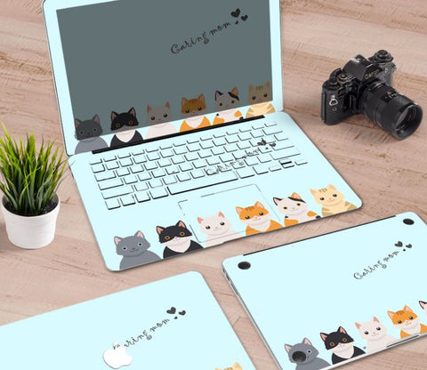 Macbook Decal Skin | Paint Collection - Cartoon Cat3