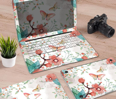 Macbook Decal Skin | Paint Collection - Flower Cluster - Case Kool
